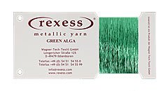 Metallic Garn GREEN ALGA